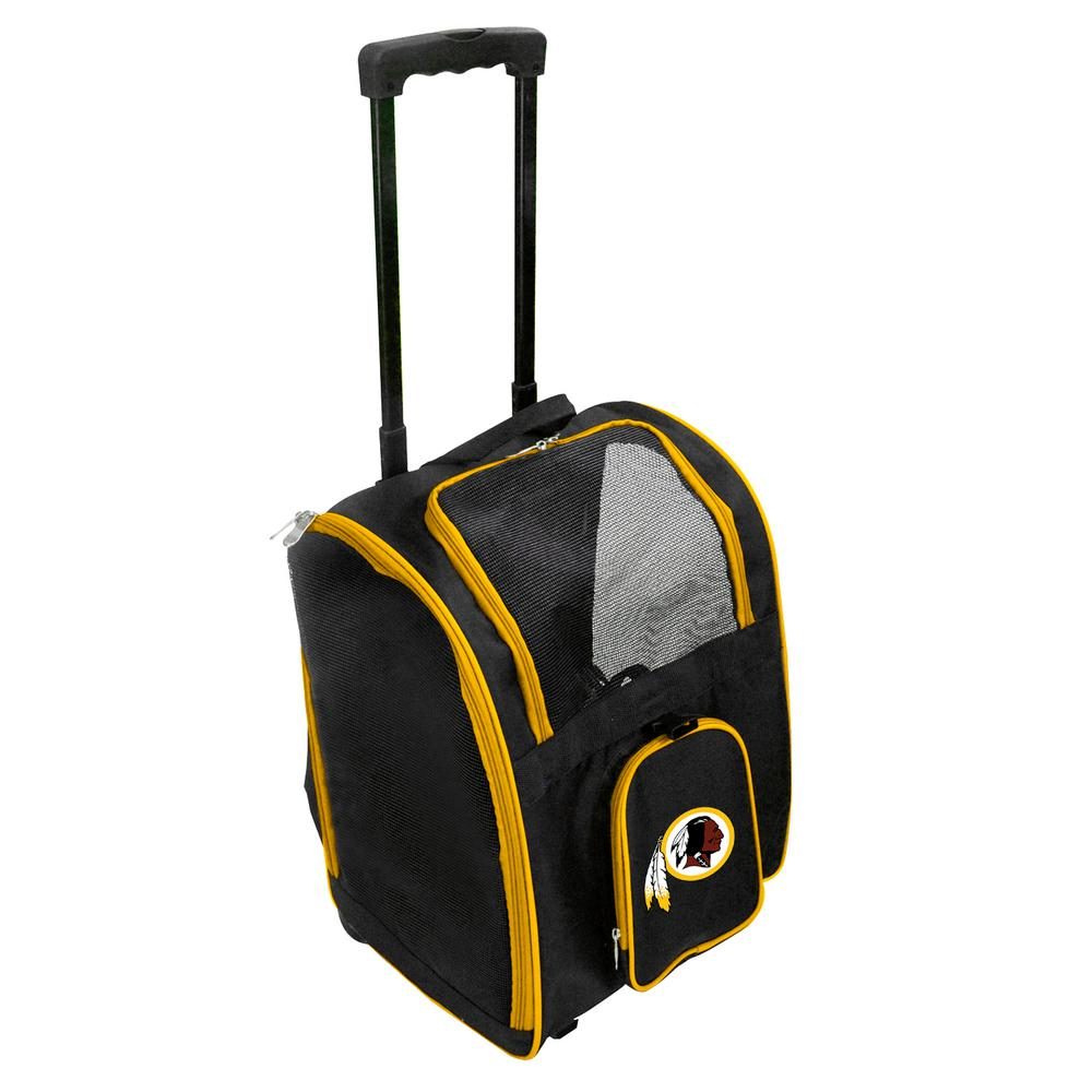 Denco NFL Washington Redskins Pet Carrier Premium Bag with wheels in Yellow d42d83f53