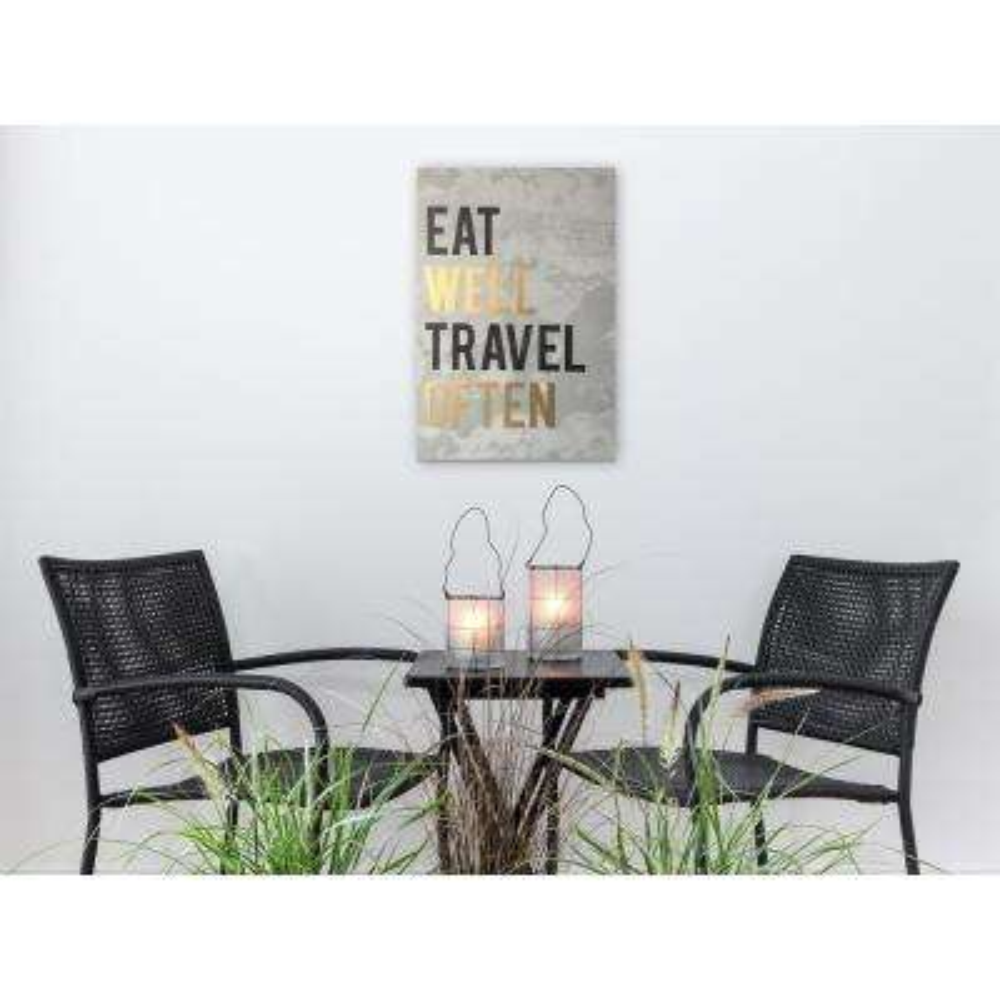 16 in. x 24 in. 'Eat Well' By Wynwood Studio Art Plaque