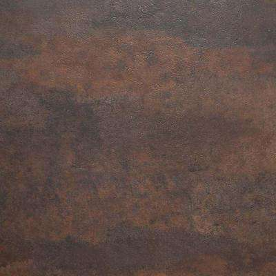 Brown Oxidized Metal 18 in. x 18 in. Peel and Stick Vinyl Tile (27 sq. ft. / case)