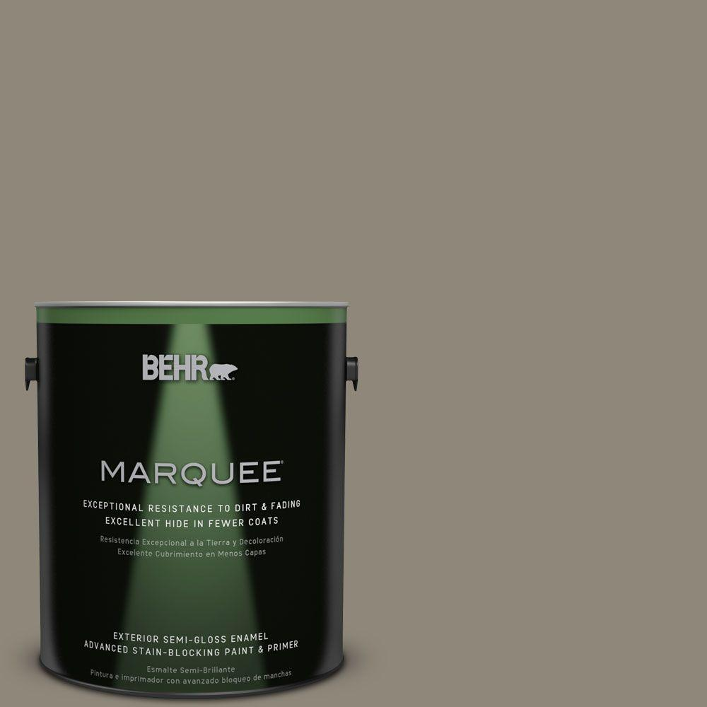 1 gal. #T16-08 Fifth Olive-Nue Exterior Semi-Gloss Enamel Paint