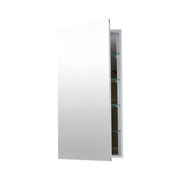 12 in. W x 30 in. H x 4 in. D Recessed or Surface Mount Medicine Cabinet in Aluminum
