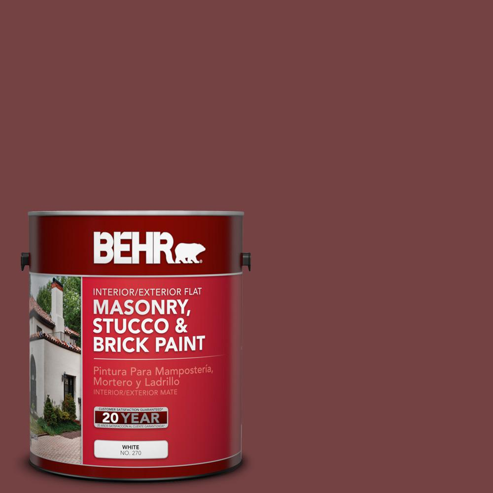 1 gal. #PFC-04 Tile Red Flat Interior/Exterior Masonry, Stucco and Brick