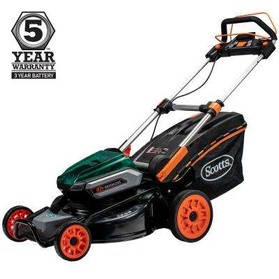 21 in 62-Volt Lithium-ion Cordless Self Propelled Walk Behind Lawn Mower 4 Ah and 2.5 Ah Battery and Charger Included