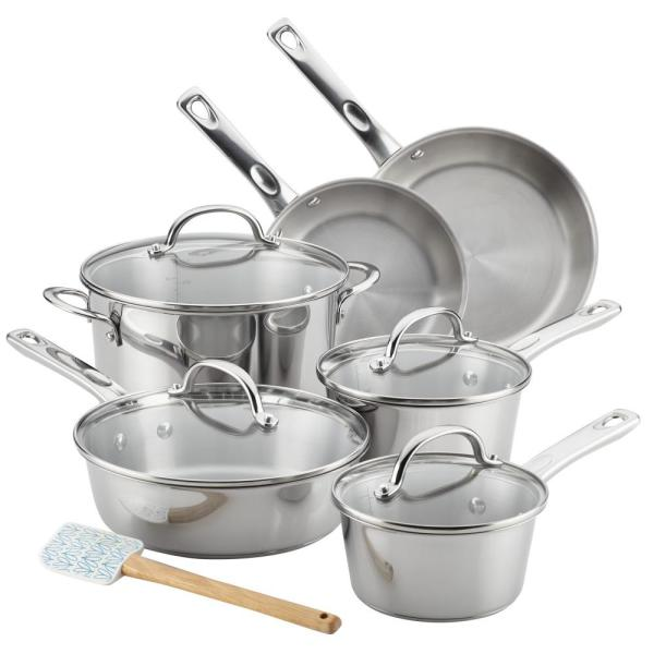 Ayesha Curry Home Collection 11-Piece Stainless Steel Cookware Set 70209