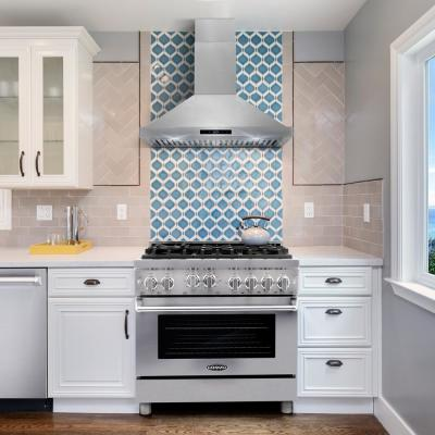 Commercial-Style 36 in. 4.5 cu. ft. Gas Range with 6 Italian Burners and Heavy Duty Cast Iron Grates in Stainless Steel