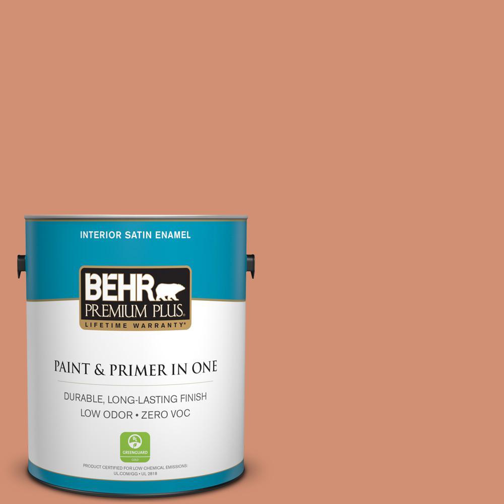1-gal. #M200-5 Terra Cotta Clay Satin Enamel Interior Paint