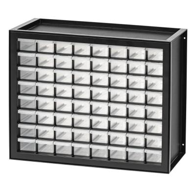 64 Drawer Parts Cabinet in Black