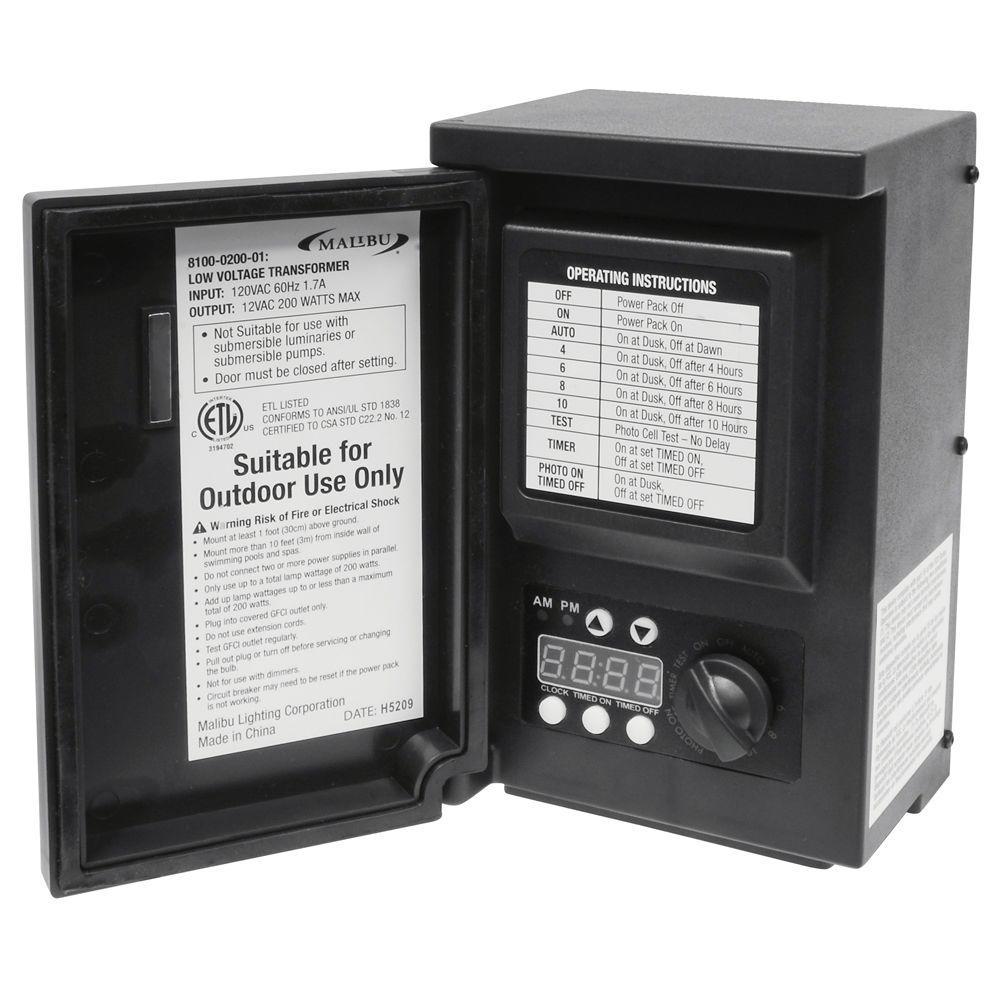 Malibu Low-Voltage 200-Watt Digital Transformer