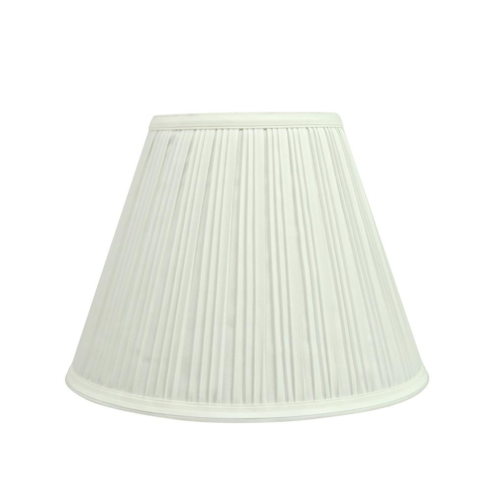 Aspen Creative Corporation 10 In X 8 Off White Pleated Empire Lamp Shade