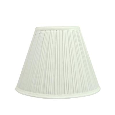 10 in. x 8 in. Off White Pleated Empire Lamp Shade
