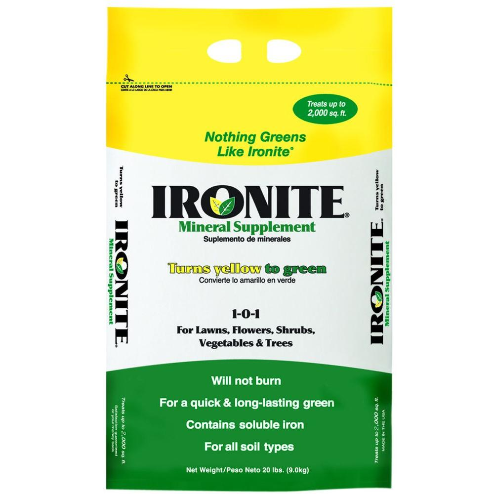 Ironite 20 lb. 1-0-1 Mineral Supplement Iron Fertilizer