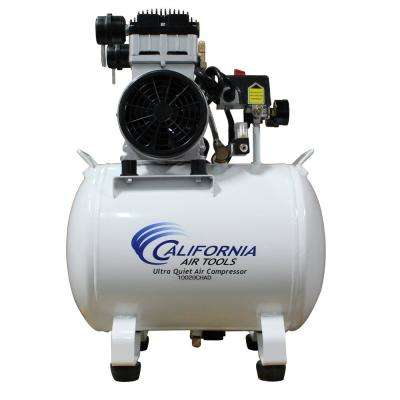 10 Gal. 2.0 HP Ultra-Quiet and Oil-Free Electric Stationary Air Compressor with Auto Drain