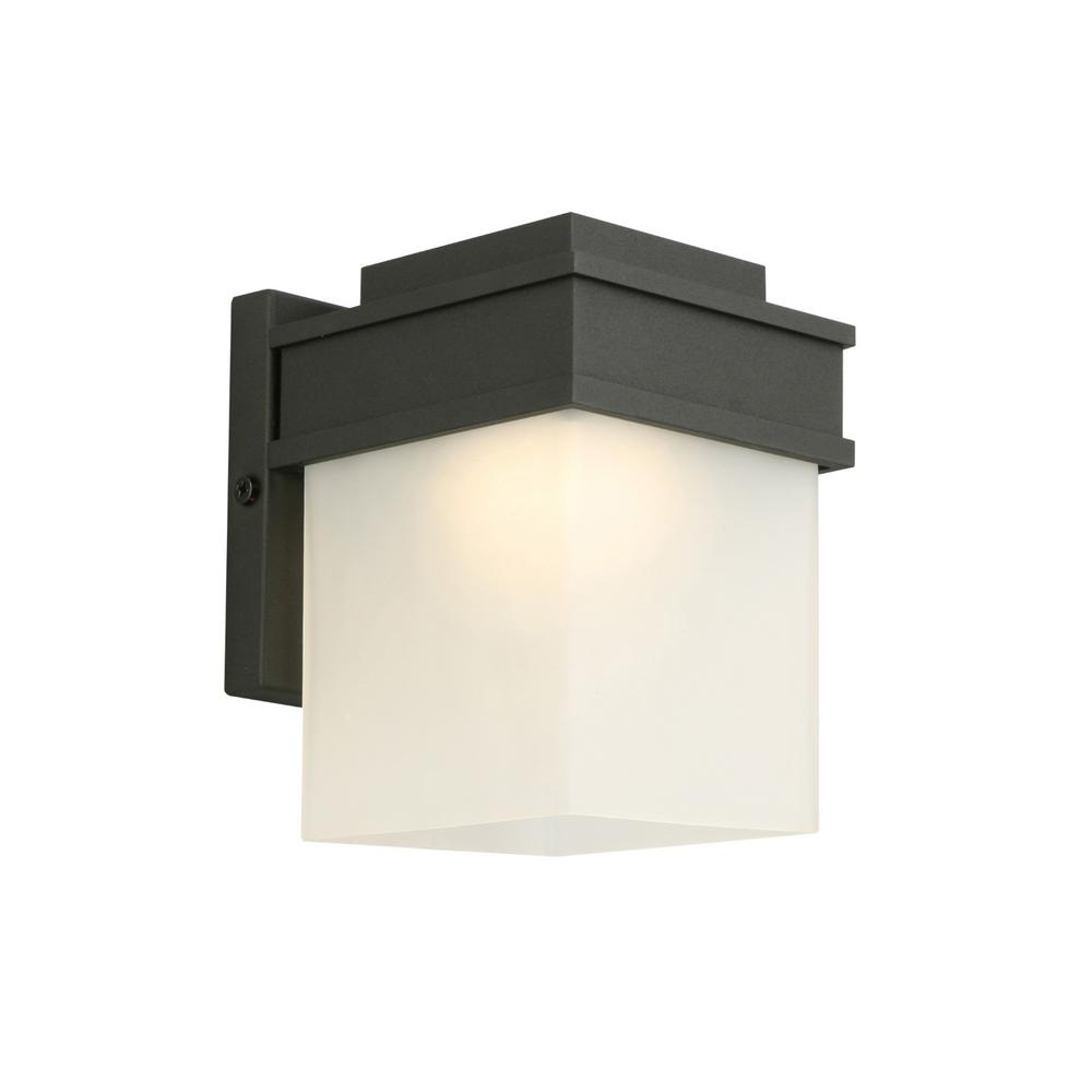 Design House Bayfield 8-Watt Integrated LED Black Outdoor Wall ...