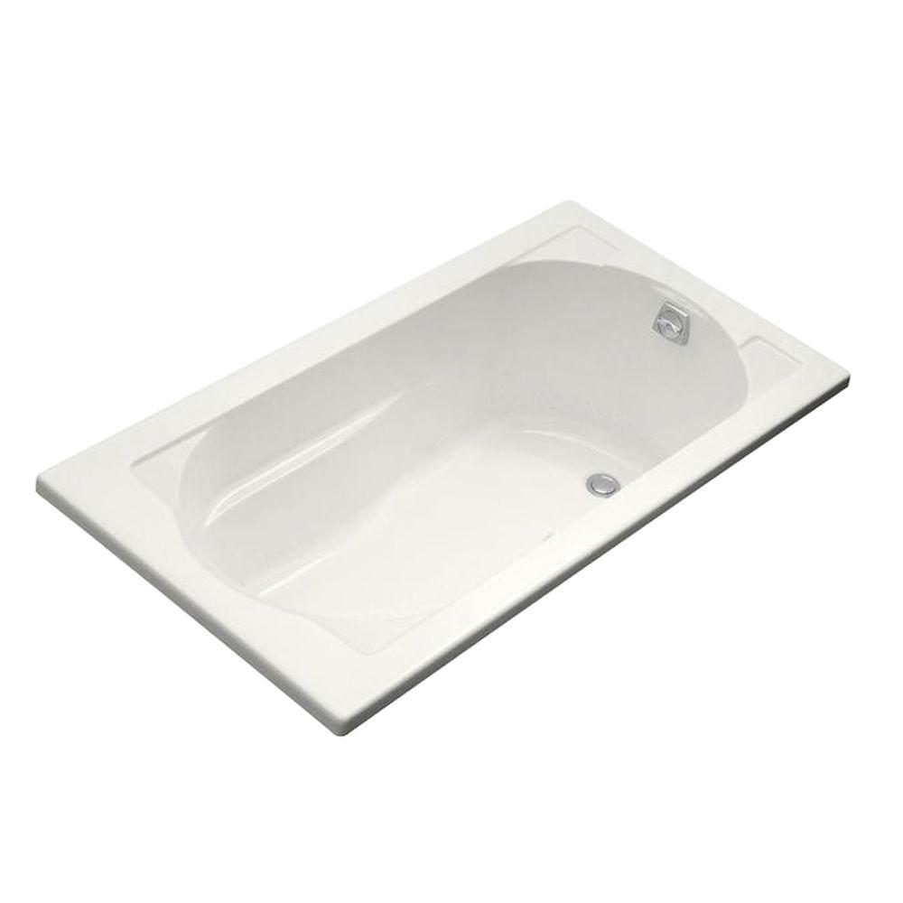 KOHLER Devonshire BubbleMassage 5 ft. Reversible Drain Bathtub in ...
