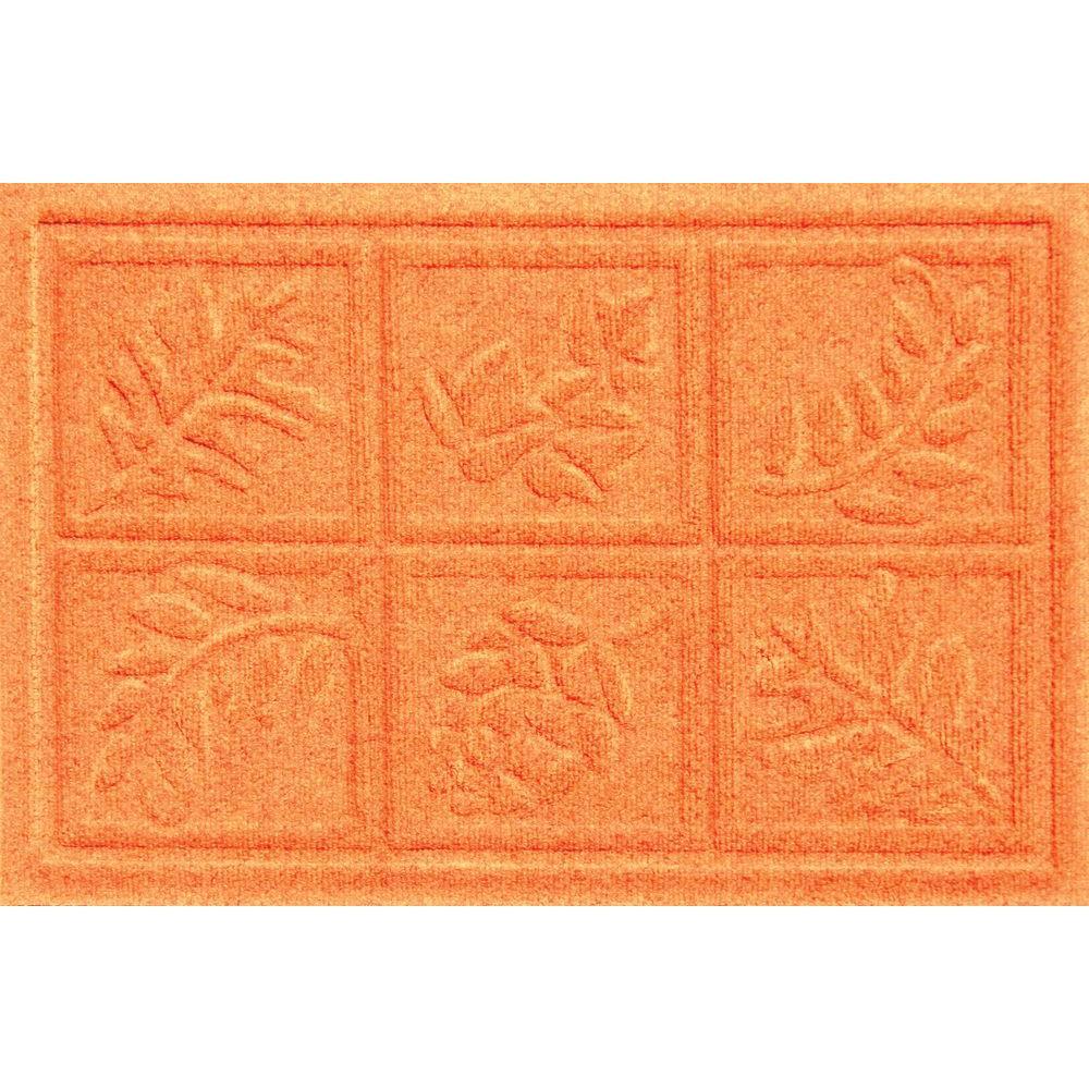Aqua Shield Nature Walk Orange 17.5 in. x 26.5 in. Door Mat