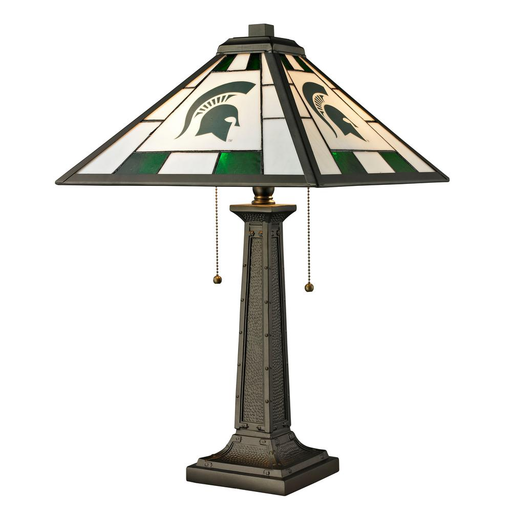 24 in. Tiffany Michigan State Desk Lamp