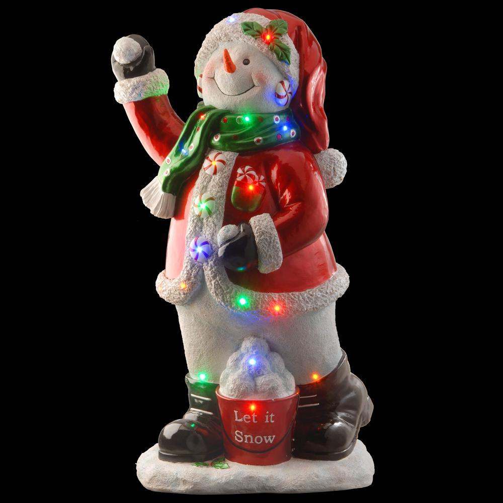 35 in. Pre-Lit Snowman Decoration