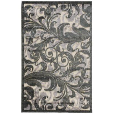 Graphic Illusions Multicolor 4 ft. x 6 ft. Floral Contemporary Area Rug