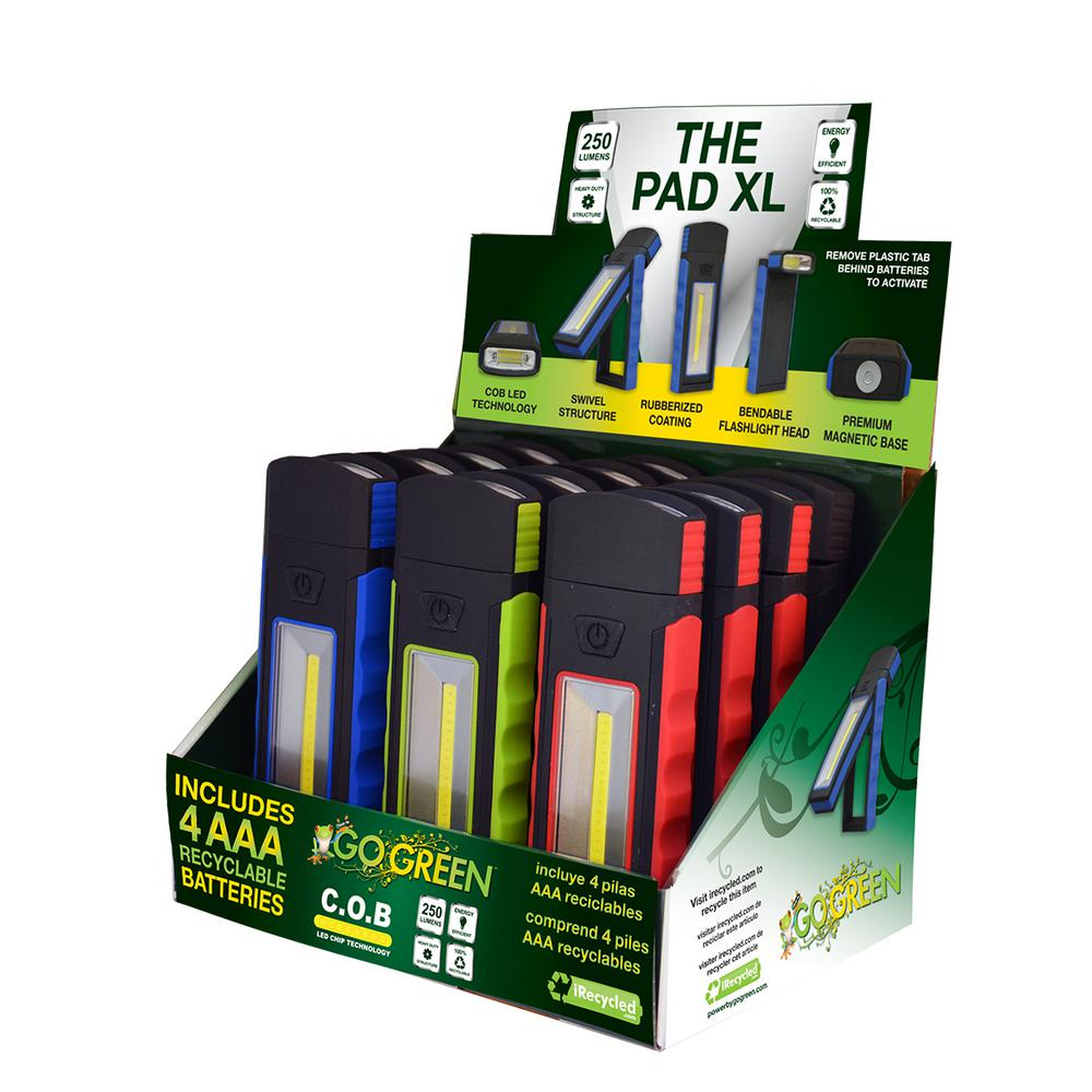 Go Green The Pad Xl Cob Led Magnetic Light Display 12 Piece