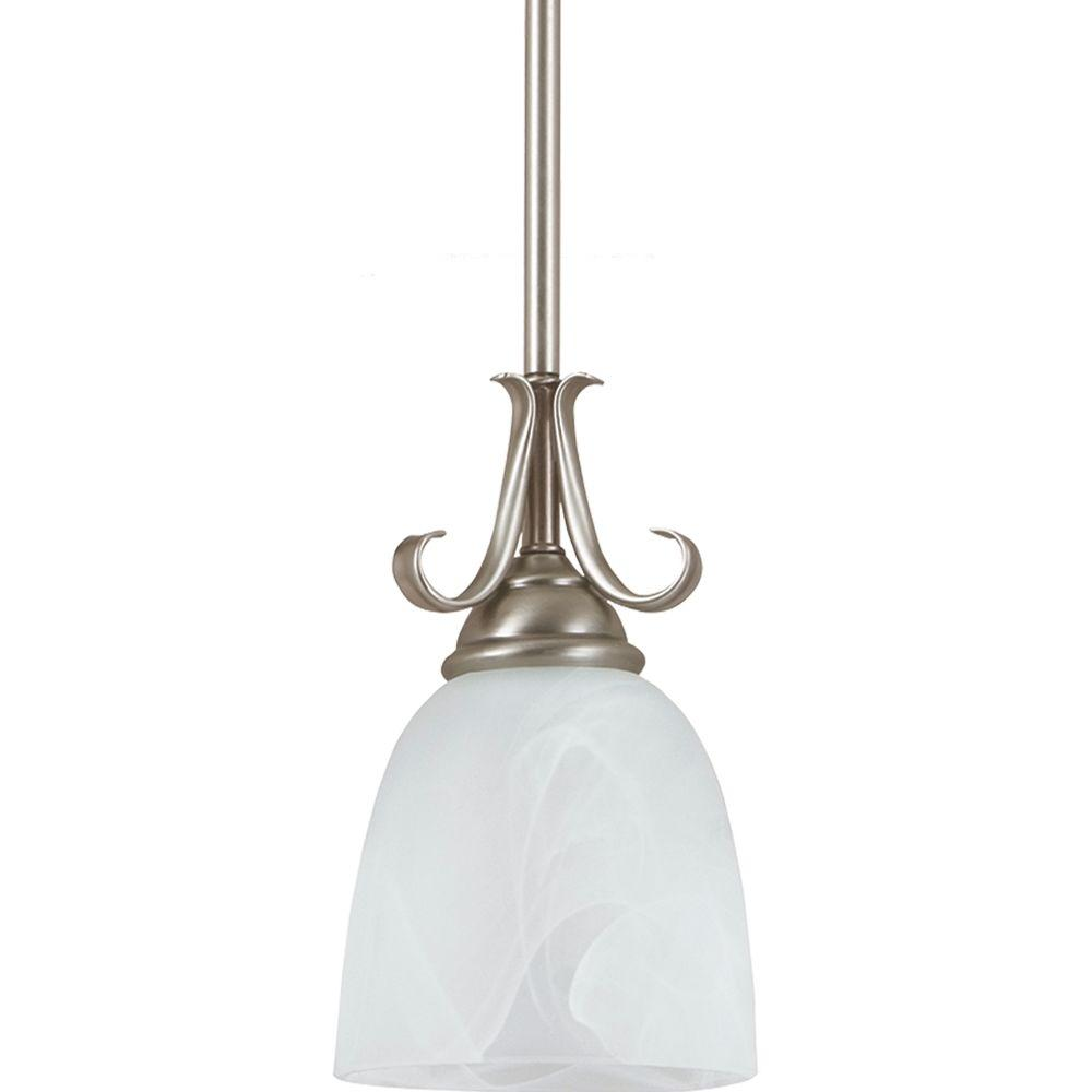 Captivating Sea Gull Lighting Lemont 1 Light Antique Brushed Nickel Mini Pendant