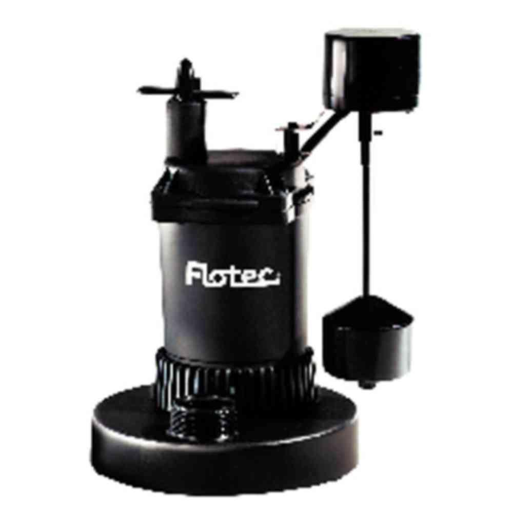 Flotec 1/3 HP Thermoplastic Submersible Sump Pump with Vertical Switch