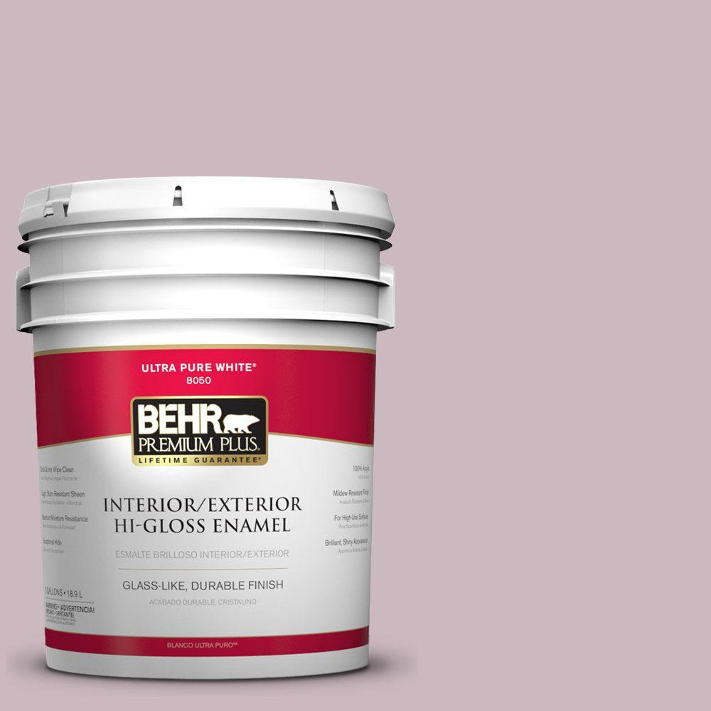 5-gal. #690E-3 Iris Pink Hi-Gloss Enamel Interior/Exterior Paint
