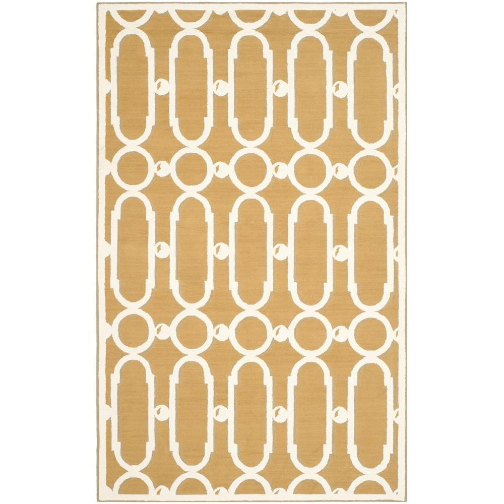 Safavieh Newport Olive/White 7 ft. 9 in. x 9 ft. 9 in. Area Rug