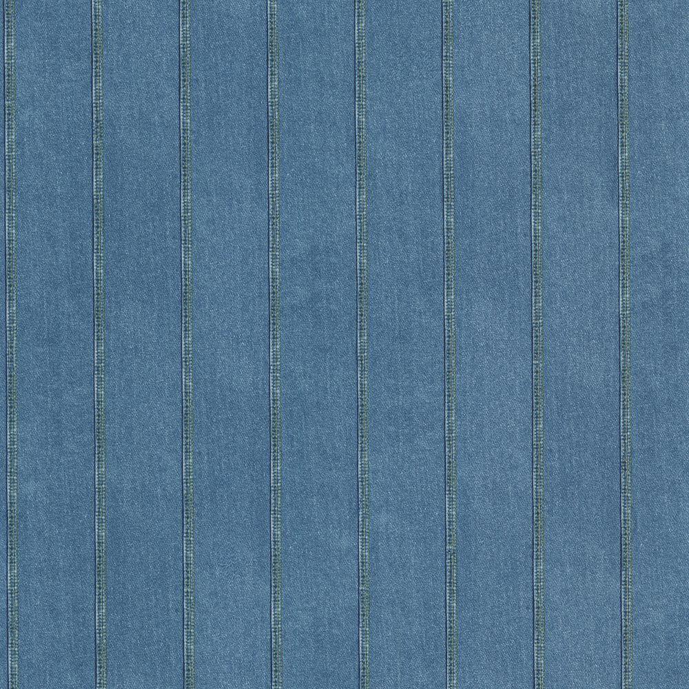 The Wallpaper Company 10 in. x 8 in. Denim Blue Stripe Wallpaper Sample-DISCONTINUED