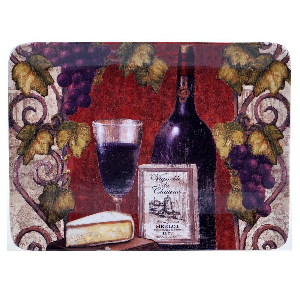 Wine Tasting 16 inch Rectangular Platter by
