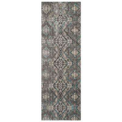 Camilla Azure 2 ft. 6 in. x 8 in. Runner