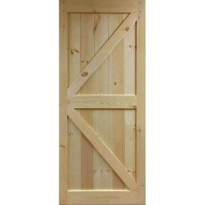 30 in. x 83.5 in K-Rail Unfinished Solid Core Pine Barn Door Slab