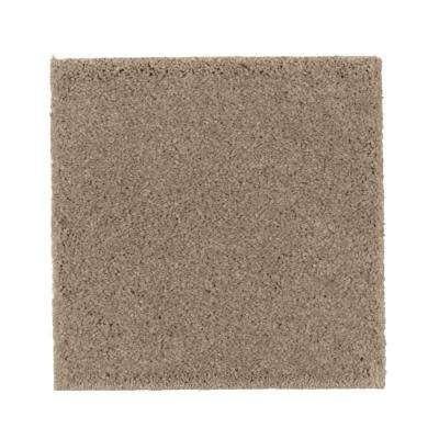 Carpet Sample - Gazelle I - Color True Taupe Texture 8 in. x 8 in.