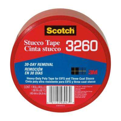 Scotch 1.88 in. x 60 yds. Heavy-Duty Red Poly Contractor Stucco Tape