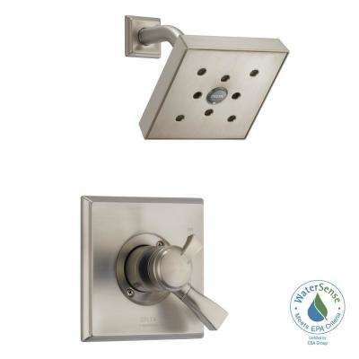 Dryden H2Okinetic 1-Handle Shower Faucet Trim Kit in SpotShield Stainless (Valve Not Included)