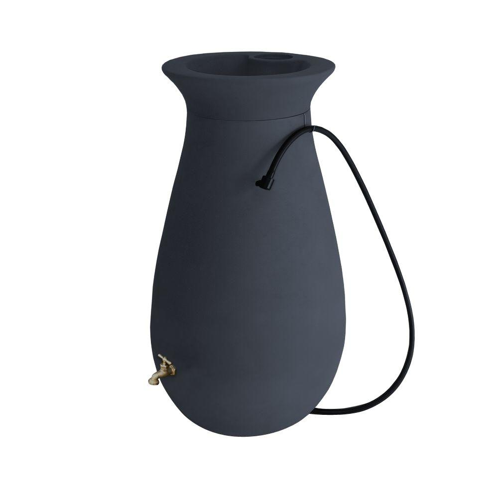 Cascata 65 Gal. Rain Barrel in Slate Grey