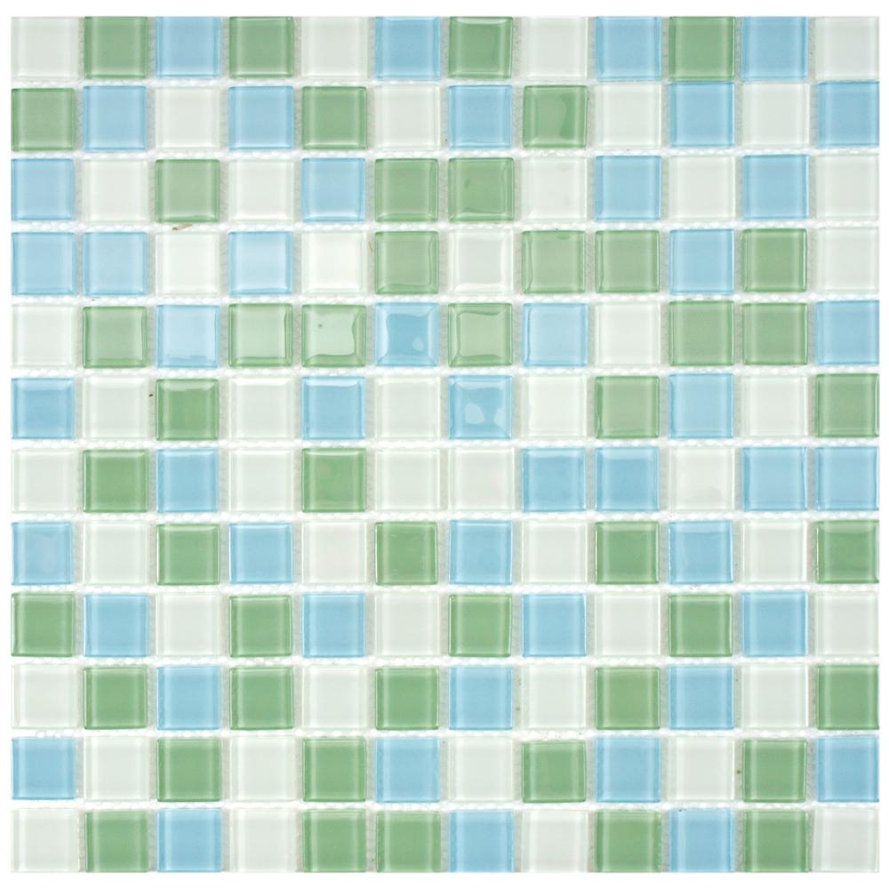 Merola Tile Spectrum Square Fresh 11 3 4 In X Mm Gl Mosaic Gdxssqf The Home Depot