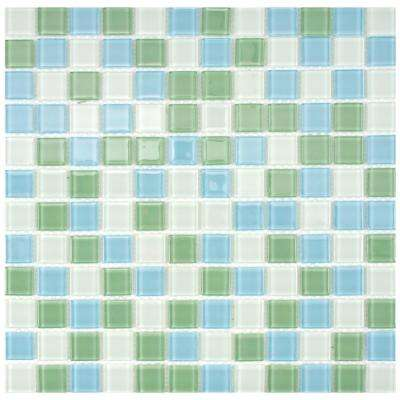 Spectrum Square Fresh 11-3/4 in. x 11-3/4 in. x 4 mm Glass Mosaic Tile