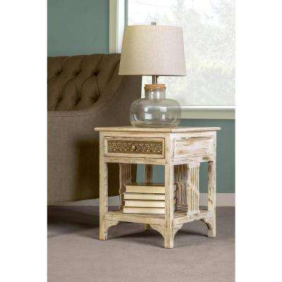 balin distressed whitewash end table - White Wash End Tables