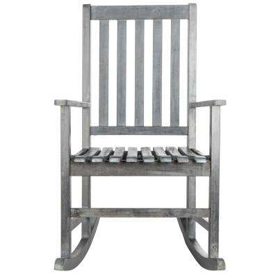 Barstow Ash Grey Wood Outdoor Rocking Chair