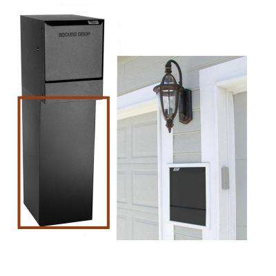 Wall-Mount Delivery Bottom Hold Vault Mailbox, Black