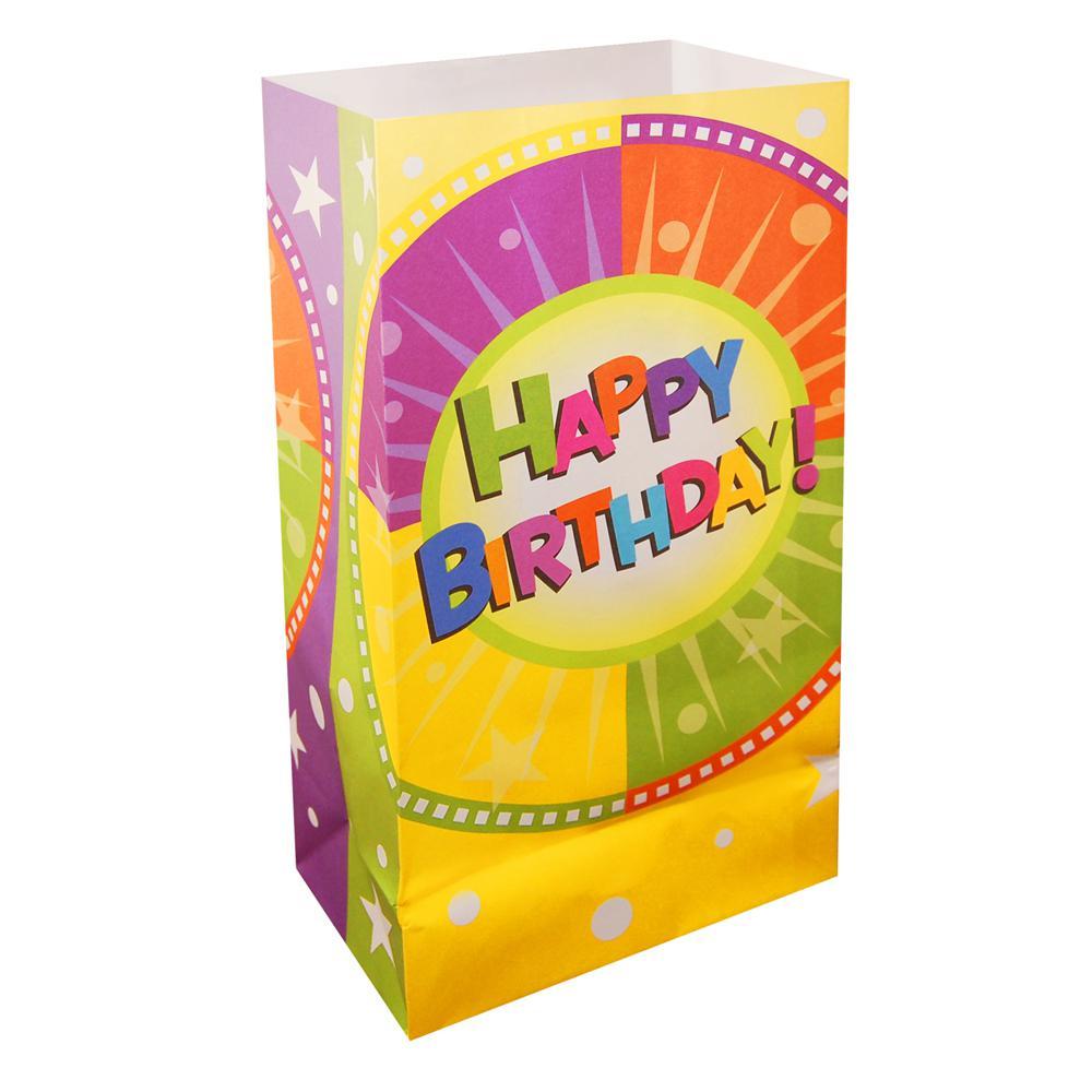 Happy Birthday Luminaria Bags (24-Count)