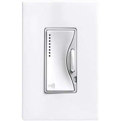 Aspire 600-Watt RF Incandescent/MLV Smart Dimmer, White Satin