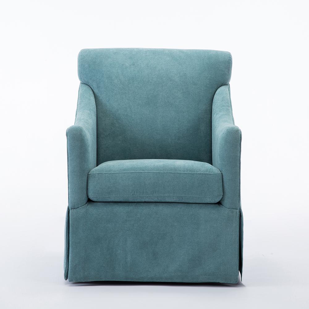 Georgia Ocean Skirted Swivel Chair