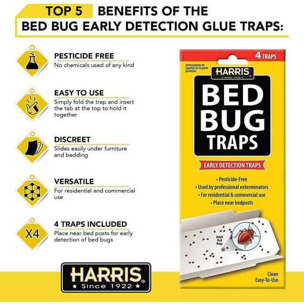 Harris Bed Bug Traps 4 Pack Bbtrp The Home Depot