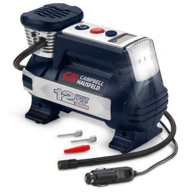 Digital Powerhouse 100 PSI 12-Volt Portable Inflator with Automatic Shut-off, Safety Light and Accessories