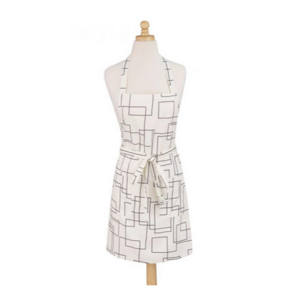 Art Style Design Living Modernist White Print Cotton Butcher's Apron 01-529