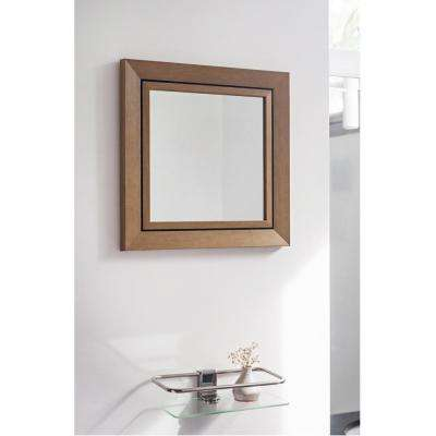 13.5 in. x 13.5 in. Yellow Stone Wash Mirror