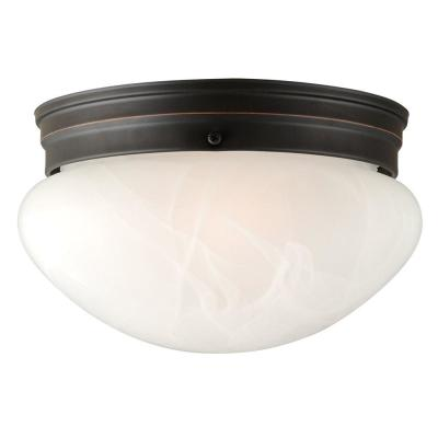Millbridge 2-Light Oil Rubbed Bronze Ceiling Semi Flush Mount Light Fixture