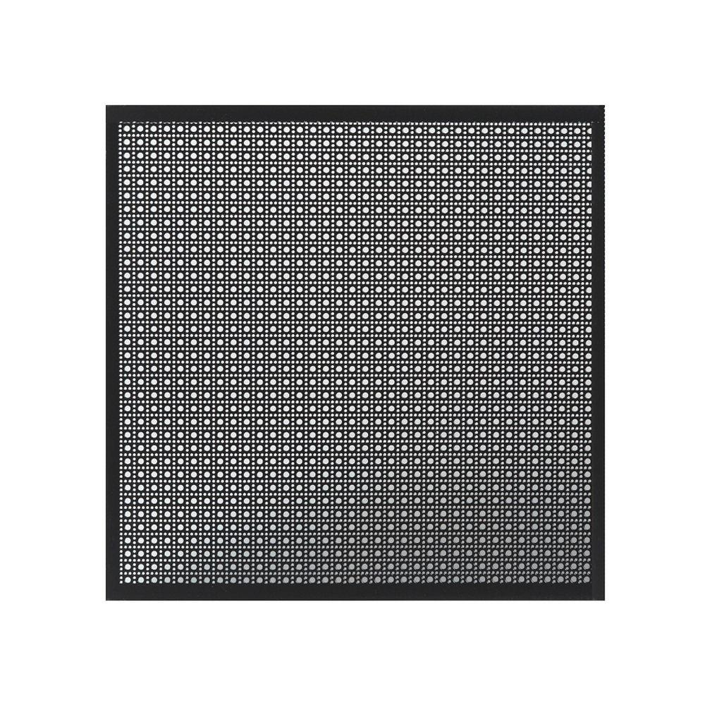 Perforated Black Aluminum Metal Sheet With Decorative