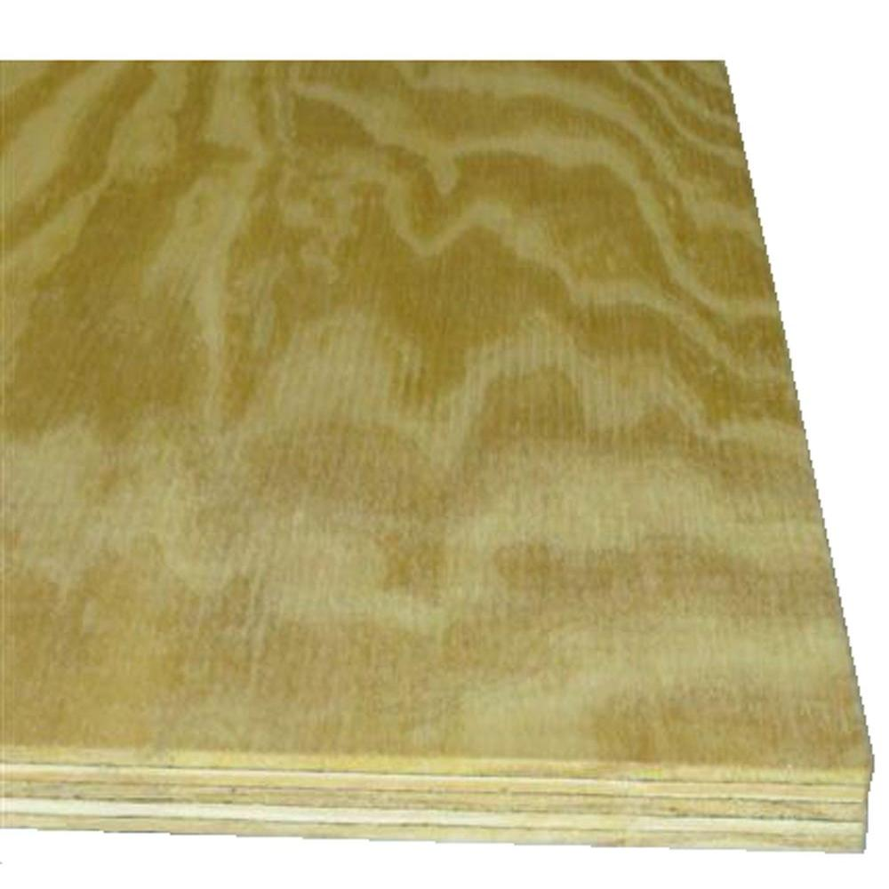 Sanded Pine Plywood (Common: 23/32 in. x 2 ft. x 4
